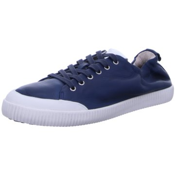 Blackstone Komfort Schnürschuh blau