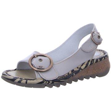 Fly London Komfort Sandale weiß