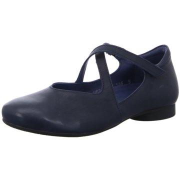 Think Riemchen Ballerina blau