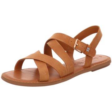 TOMS Sandale braun