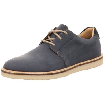 Clarks Klassischer Schnürschuh blau