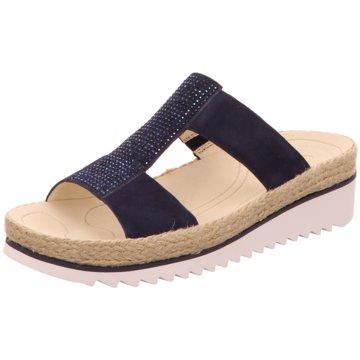 Gabor Komfort Pantolette blau