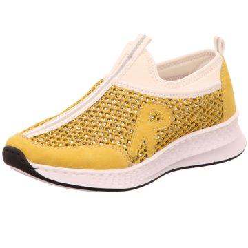 Rieker Sportlicher Slipper gelb