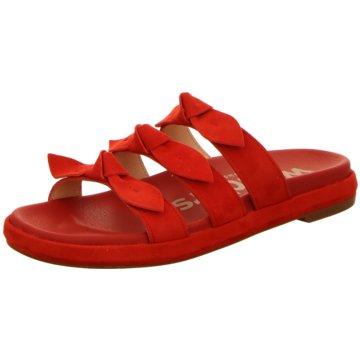 Wonders Klassische Pantolette rot