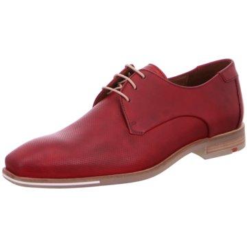 Lloyd Eleganter Schnürschuh rot