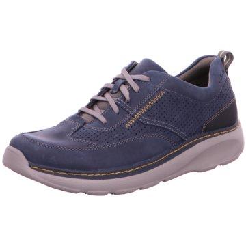 Clarks Komfort SchnürschuhSneaker blau