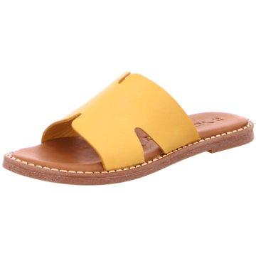 Tamaris Klassische Pantolette gelb