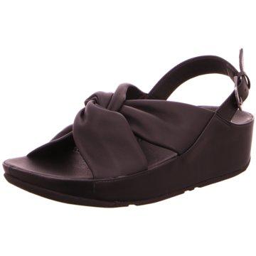 FitFlop Komfort Sandale schwarz