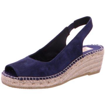 Vidorreta Espadrilles Sandalen blau