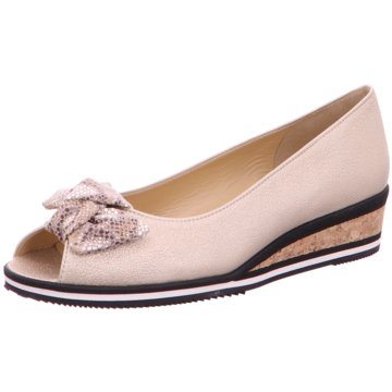 Brunate Keilpumps beige