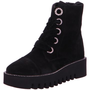 Alpe Woman Shoes Schnürboot schwarz