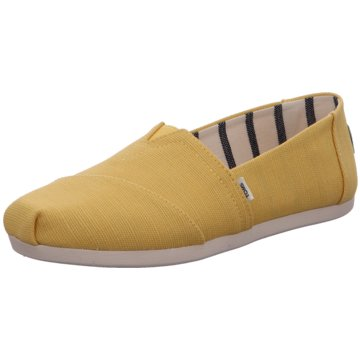 TOMS Klassischer Slipper gelb