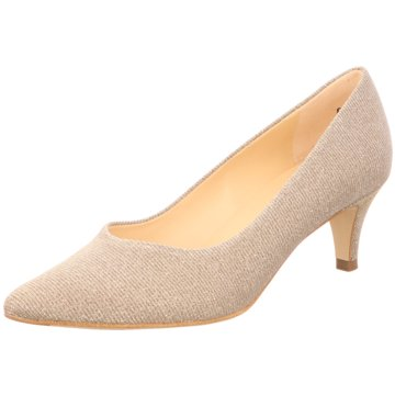 Peter Kaiser Flacher Pumps gold