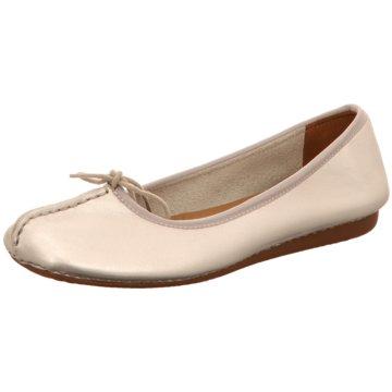 Clarks Damen Schuhe Ballerinas im klassischen Look lila cPzitMAP5m