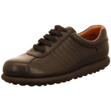 Camper Sportlicher Schnürschuh schwarz