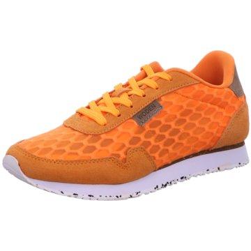 Woden Sportlicher Schnürschuh orange