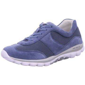 Gabor comfort Komfort SchnürschuhSneaker blau