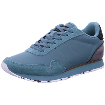 Woden Komfort Schnürschuh blau