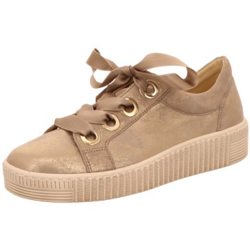 Gabor Plateau Sneaker gold