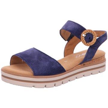 Gabor comfort Plateau SandaletteF blau