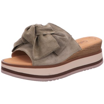 Gabor Top Trends Pantoletten grün