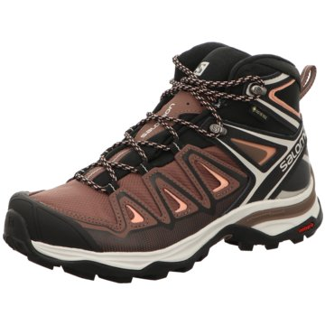 Salomon Outdoor SchuhSchuhe X ULTRA 3 MID GTX W Pepperco braun