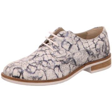 Online Shoes Eleganter Schnürschuh weiß