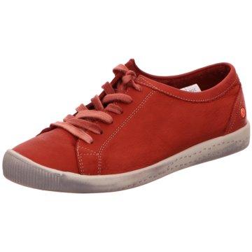 Softinos Sportlicher Schnürschuh rot