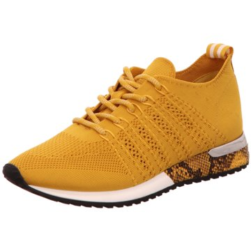 La Strada Sneaker LowLaced up knitted Sne gelb