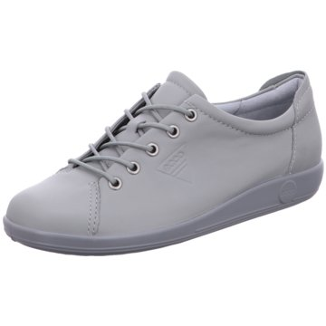 Ecco Komfort Schnürschuh grau