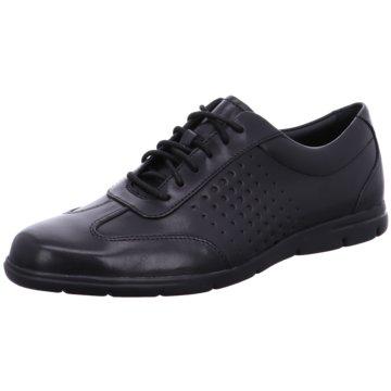 Clarks Klassischer SchnürschuhSneaker schwarz