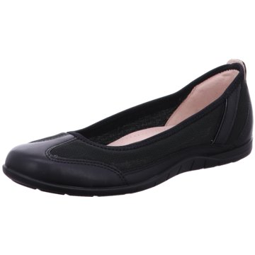 Ecco Klassischer Ballerina schwarz