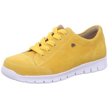 FinnComfort Komfort Schnürschuh gelb
