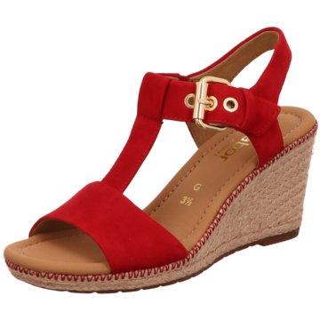 Gabor comfort Sandalette rot