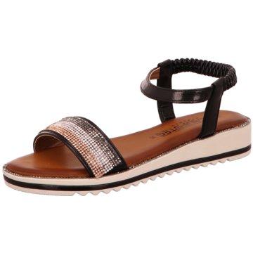 Laufsteg München Sandale schwarz