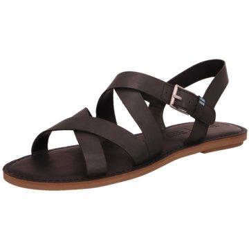 TOMS Sandale schwarz