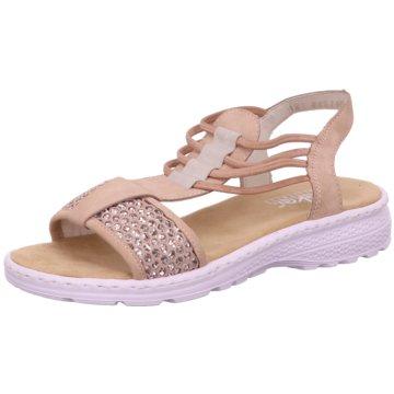 Rieker Komfort Sandale rosa