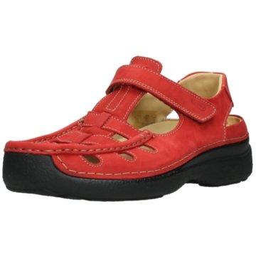 Wolky Komfort Sandale rot