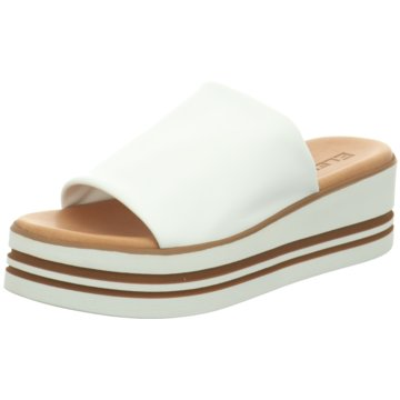 ELENA Plateau Pantolette weiß