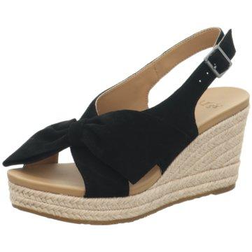 UGG Australia Espadrilles Sandalen schwarz