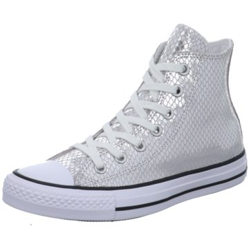 Converse Sneaker HighChuck Taylor Metallic Scaled Leather Sneaker Damen Schuhe silber grau