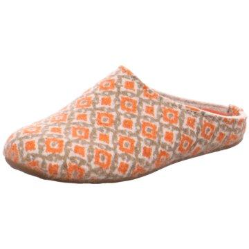 Haflinger Hausschuh orange
