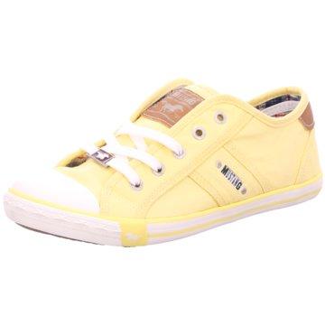 Mustang Komfort Schnürschuh gelb