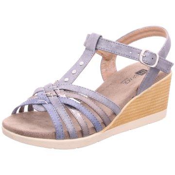 Hengst Footwear Keilsandalette blau
