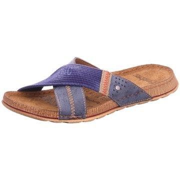 Fischer Schuhe Pantolette blau