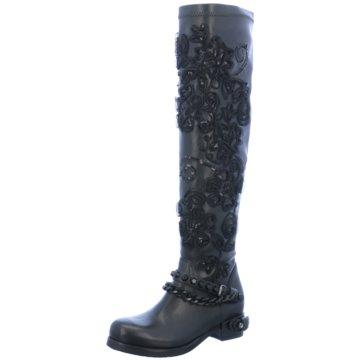 Mimmu Klassischer Stiefel schwarz