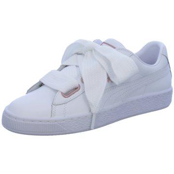 Puma Sneaker LowBasket Heart Leather weiß