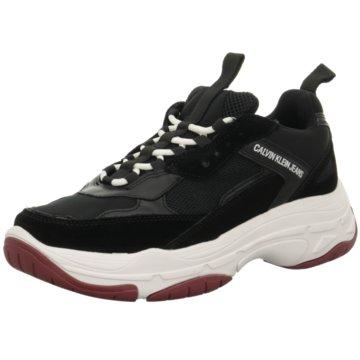 Calvin Klein Plateau Sneaker schwarz