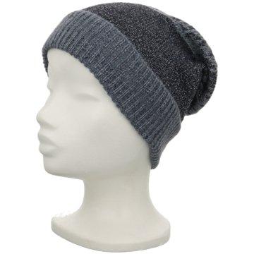 Seiden-Grohn Mütze Damen blau