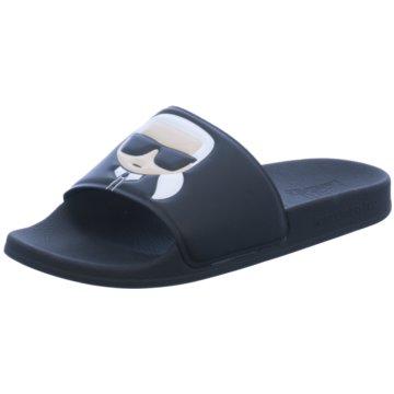 Karl Lagerfeld Pool Slides schwarz